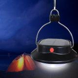 Lâmpada leve solar de acampamento do diodo emissor de luz da emergência portátil