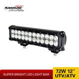CREE LED de 12inch 72W que trabaja la barra ligera para los carros