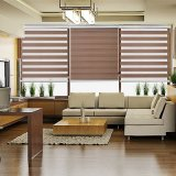 Shandri Shandri El Sheer Zebra Blinds Shade para Windows Office com Bottomrail