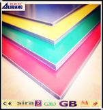 El panel de pared de material compuesto de aluminio