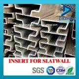 Pieza inserta para el perfil de aluminio popular del MDF/de la aleación de la protuberancia de Slatwall con diversas tallas
