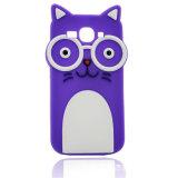 Dekking van de Telefoon van de Kat van het glas de Rubber Mobiele voor Sumsung