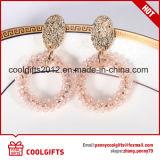 Corea colorido colgante de cristal de la ronda de la moda señoras pendientes