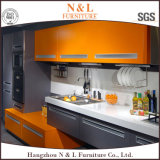 Do estilo moderno de madeira da mobília do MDF armário elevado da cozinha da laca do lustro