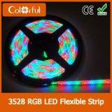 DC12V3528 для поверхностного монтажа 120LED/M адресного пространства RGB со светодиодной полосы света