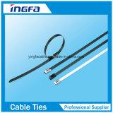 Шарик связи кабеля нержавеющей стали зафиксировал при черный покрынный цвет красной сини