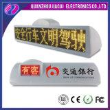 Afficheur LED imperméable à l'eau de vidéo de toit de taxi du contrôle 3G