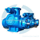 Pompe horizontale à double vis pour usage marin