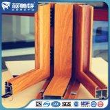 Profil en aluminium de transfert en bois des graines d'OEM pour le guichet en aluminium