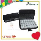 Boîte à Pilule Revêtue en Cuir pour 7 Jours (pH1229C)