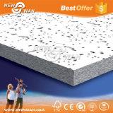 Panel acústico blanco de la Junta de techo de fibra mineral