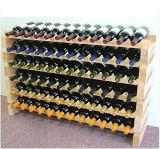 Естественная древесина сосенки цвета штабелируя шкаф вина с размером подгоняет