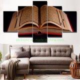 Toile d'images HD d'art mural imprime 5 pièces Coran islamique Home Decor Huile sur toile (M039)