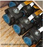 Tres vávula de bola de alta presión del acero inoxidable F316 del pedazo