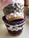 장식적인 Handmade 콘테이너 도매 선전용 수직 버드나무 바구니 (BC-ST1248)