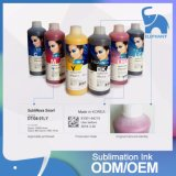 6 tinta de la sublimación del tinte de los colores 1liter Inktec Sublinova para la pista de Epson Dx4/Dx5