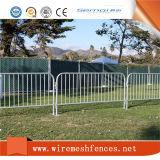 2.1X1.1m Barricade temporaire / tube rond galvanisé Barrière de contrôle de la foule