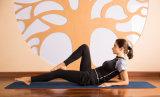 Yoga a due pezzi di forma fisica di compressione della donna di Short del Faux stretto del manicotto