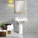 azulejo de cerámica esmaltado impermeable de la pared del cuarto de baño de la inyección de tinta del gris de 300X600m m