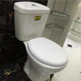 Toaletes de duas partes de porcelana de cor branca para banheiro