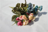 結婚式表のセンターピースのためのローズの安い人工的な花