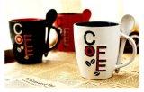 穴のハンドルが付いている熱い販売促進12ozの陶磁器のコーヒー・マグ