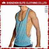 Commercio all'ingrosso in bianco Bodybuilding della maglietta giro collo della traversa del Mens di ginnastica (ELTMBJ-312)