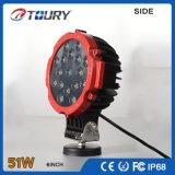 luz barata del trabajo de 51W LED para las luces de trabajo de la motocicleta LED