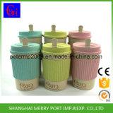 Tasse de voyage de blé de 14 oz 400 ml, tasses biodégradables