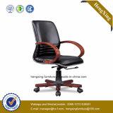 Hölzerne Unterseite und Arm-lederner Büro-vollziehendstuhl (HX-OR004A)
