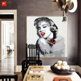 Peinture à l'huile de toile de portrait de pop-star sur des estampes