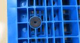 plateau en plastique de Rackable de palette de 1100*1100*150mm de la charge statique 6t de réseau de paquet lourd en plastique de double pour la mémoire d'entrepôt (ZG-1111)
