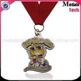 Médailles bon marché faites sur commande de cancer du sein de scintillement de nickel noir