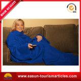 厚く暖かい羊毛袖が付いているカスタム身につけられるTV毛布
