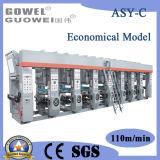 Economische Machine Met gemiddelde snelheid van de Druk van de Rotogravure van 8 Kleur gwasy-c 110m/Min
