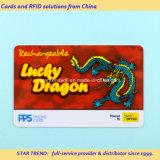 Tarjeta de PVC con banda magnética recargable para la tarjeta de teléfono
