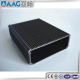 Recinto de aluminio negro anodizado del disipador de calor
