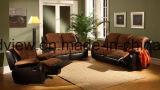 Migliore sofà di vendita del Recliner del tessuto della pelle scamosciata Cum la base Brown