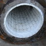 Di ceramica allineato del tubo d'acciaio con la flangia