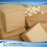 Kraft 종이 평지에 의하여 포장되는 폴딩 포장 보석 선물 상자 (xc-pbn-021e)