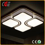 Lampe de plafond acrylique blanche avec motif décoratif pour ménage