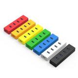 4 포트 USB 2.0 허브 휴대용 퍼스널 컴퓨터 정제 PC를 위한 외부 USB 허브 휴대용 쪼개는 도구