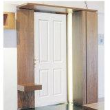 Porte moulée par HDF blanche de Pirmed de faisceau creux (porte creuse)