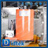 Didtek 거치된 벨브 산업 정유 공장 탄소 강철 2PC 포이는 압축 공기를 넣은 액추에이터를 가진 공 플랜지를 붙였다