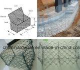 전기판에 의하여 메시 (그물세공) /Gabion 직류 전기를 통하는 6각형 돌 상자