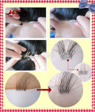 La maggior parte del merletto svizzero naturale con il rimontaggio sottile dei capelli di perimetro della pelle