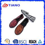 Зебра Stripes вскользь напольные ботинки холстины (TNK35333)