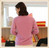 Zoll konzipiert spät Winter-Ebenen-Kaschmir-Form-Frauen geerntete Pullover-Strickjacke 100%