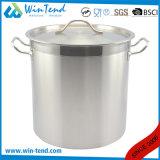05の様式のステンレス鋼は熱伝導のコンバインの底スープ在庫の鍋を紙やすりで磨いた