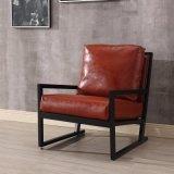 Cadeira de madeira do hotel do couro Home elegante da mobília (HC016)